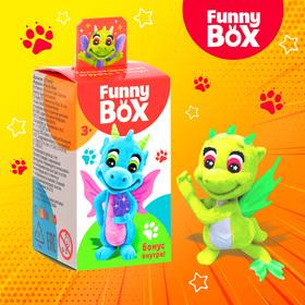 Игровой набор Funny Box «Динозаврики»: карточка, фигурка, лист наклеек
