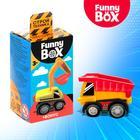 Игровой набор Funny Box «Строй техника»: карточка, фигурка, лист наклеек