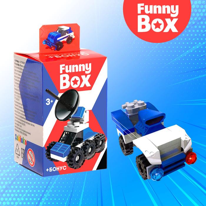 Игровой набор Funny Box «Полицейская техника»: карточка, фигурка, наклейки