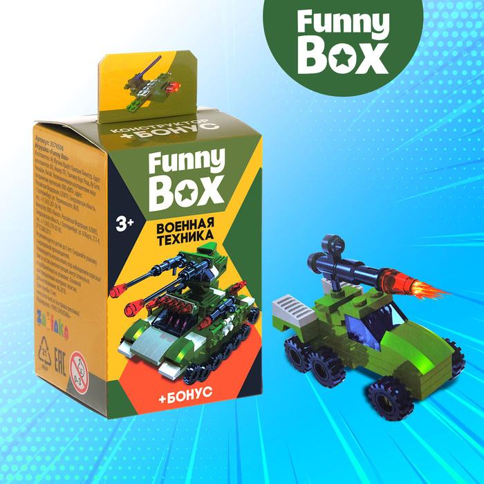 Игровой набор Funny Box «Боевая техника»: карточка, фигурка, лист наклеек