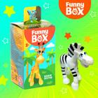 Игровой набор Funny Box «Зоопарк»: карточка, фигурка, лист наклеек - фото 7284446