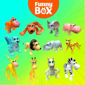 Игровой набор Funny Box «Зоопарк»: карточка, фигурка, лист наклеек - фото 7284447