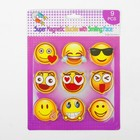"Magnetic set of ""Smileys"", 9 pieces per set"