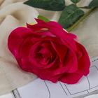 """Цветы искусственные """"Роза Гран При"""" 7*46 см, малиновый - фото 1692498"""