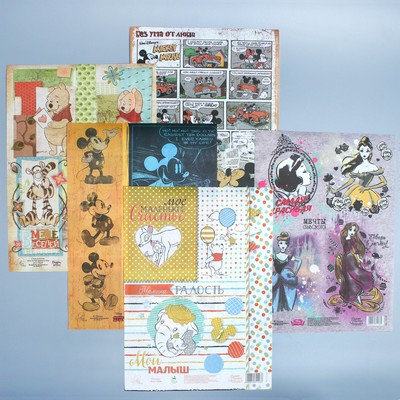 "Decoupage map ""Disney"", 10 PCs."