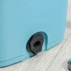 Набор для уборки: ведро с отсеками для полоскания и отжима 12 л, швабра плоская, запасная насадка из микрофибры - фото 4644119