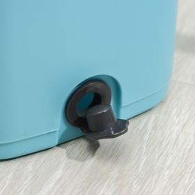 Набор для уборки: ведро с отсеками для полоскания и отжима 12 л, швабра плоская, запасная насадка из микрофибры - фото 4644120