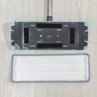 Набор для уборки: ведро с отсеками для полоскания и отжима 12 л, швабра плоская, запасная насадка из микрофибры - фото 4644122