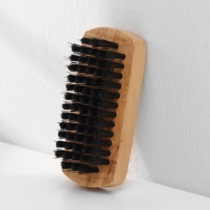 Щётка для одежды и обуви, 8,3×3,5×2,5 см, искусственная щетина