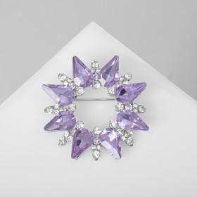 "Brooch ""the Shining"" halo color white purple silver"