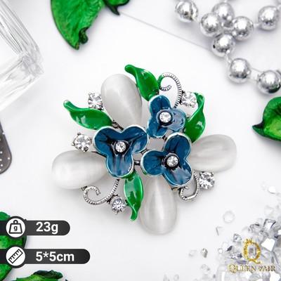 "Brooch ""Flower Bush"", color black silver"
