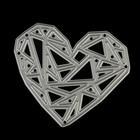 """Нож для вырубки """"Геометрия любви"""" 6,9х5,9 см"""