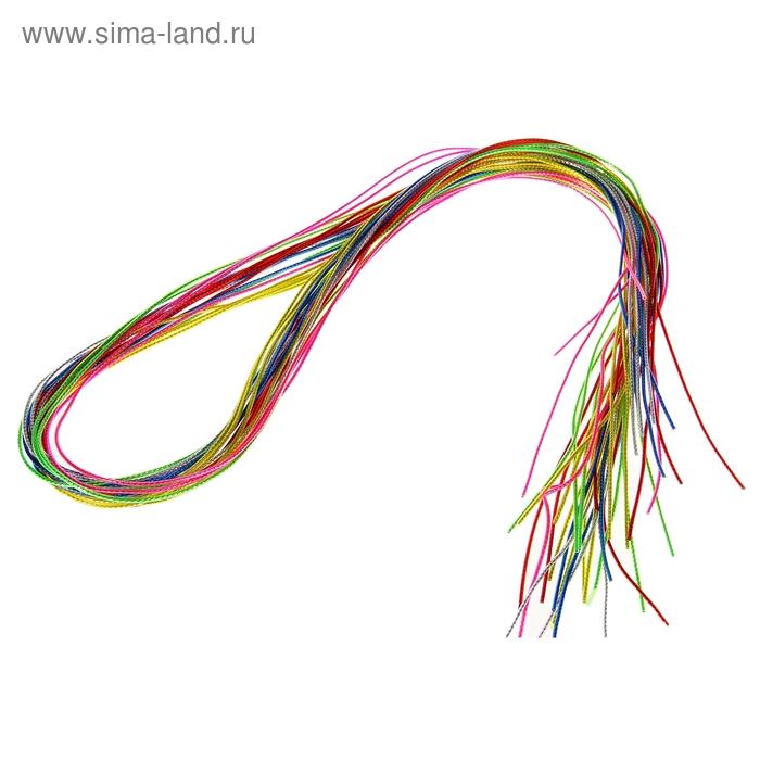 Трубочки для плетения, набор 20 штук по метру, яркие прозрачные