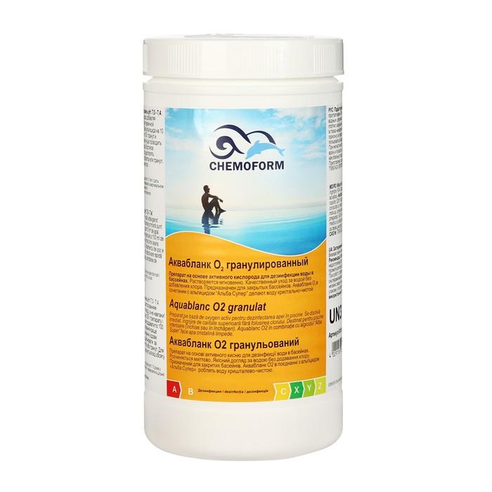 Активный кислород в гранулах для дезинфекции воды в бассейнах Аквабланк О2 гранулированный 1 кг   51