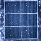 """Гирлянда """"Занавес"""" уличная, УМС, 2 х 6 м, 3W LED-1440/280-220V, мерцание, нить тёмная, свечение белое"""