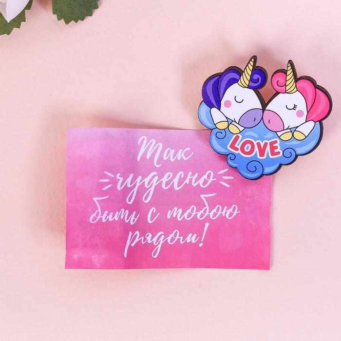 "Значок в коробочке ""I love you"" - фото 303358648"