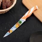 """Нож кухонный с антиналипающим покрытием """"Гренни"""", лезвие 13 см, цвета МИКС"""