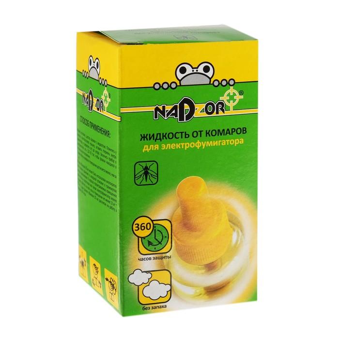 """Дополнительный флакон-жидкость от комаров """"NADZOR"""", 30 ночей, без запаха, флакон, 30 мл"""