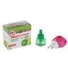 Комплект от комаров NADZOR Гоу аут-ликвид: жидкость на 30 ночей и электрофумигатор