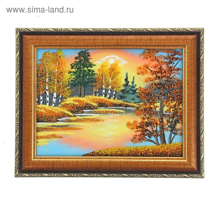"""Картина """"Осень"""", каменная крошка"""