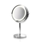 Зеркало с подсветкой Medisana CM 845, d=13 см, двустороннее, серебристое