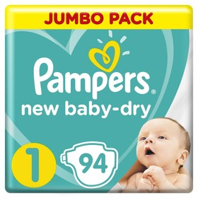 Подгузники Pampers New Baby-Dry размер 1, 94 шт.