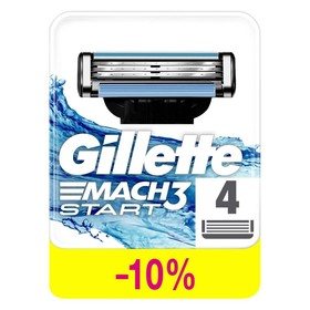 Сменные кассеты для бритья Gillette Mach3 Start, 4 шт. - фото 7445815