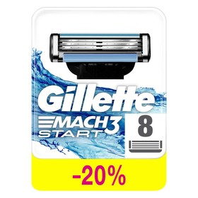 Сменные кассеты для бритья Gillette Mach3 Start, 8 шт.