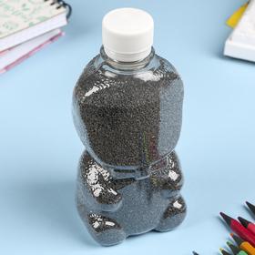 """Sand color in bottles """"Black"""" - 500 grams"""