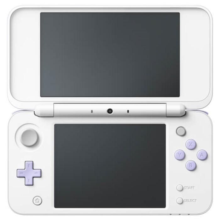 Игровая приставка N3DS: New Nintendo 2DS XL + Tomodachi Life, цвет белый-лавандовый