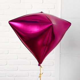 """Balloon foil 27"""" 3D, individual packing, color fuchsia"""