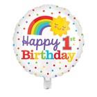"Foil balloon 16"" ""happy birthday!"", rainbow and sun"