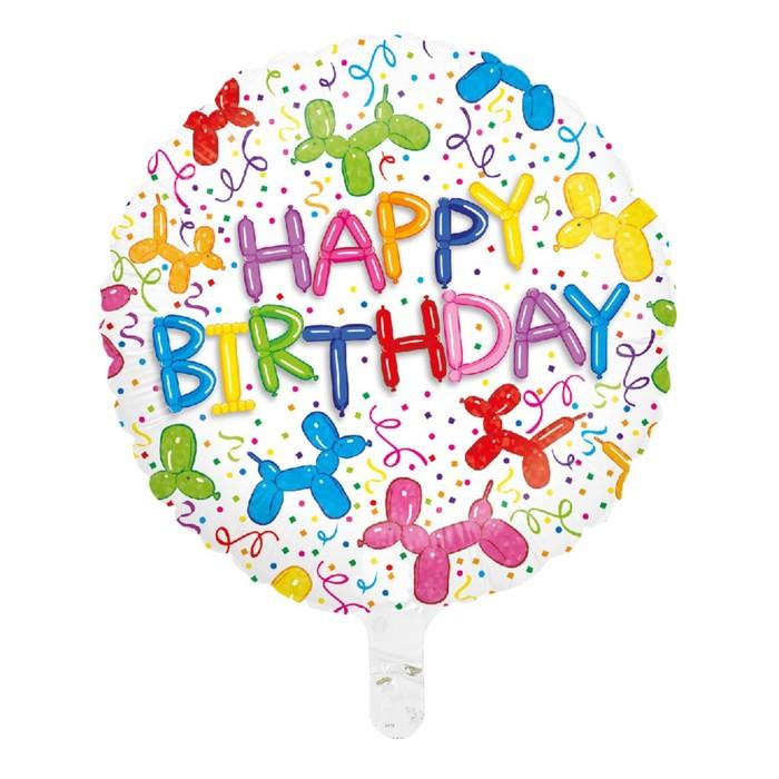 """Шар фольгированный 16"""" """"С днём рождения!"""", воздушные собачки - фото 308473529"""