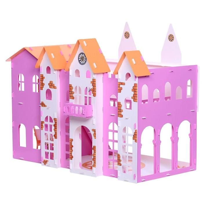 Домик для кукол «Замок Джульетты» с мебелью, бело-розовый
