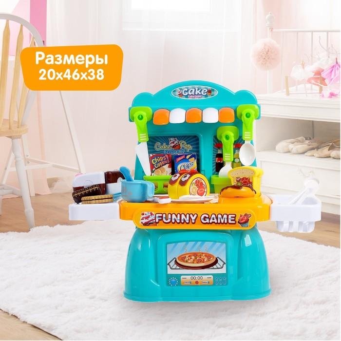 Игровой модуль кухня «Сладкоежка», с продуктами для резки - фото 998616