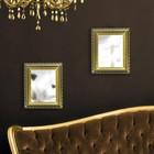 Набор зеркал, настенные, прямоугольное, 2шт, 21,5 х 27см, цвет чёрный/золотой УЦЕНКА