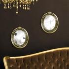 Набор зеркал, настенные, овальные, 2шт, 24 х 30см, цвет чёрный/золотой УЦЕНКА