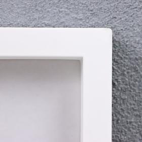 Фоторамка пластик L-3 21х30 см белый - фото 1707363