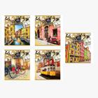 Тетрадь 48 листов клетка «Давай путешествовать», мелованный картон, выборочный лак, микс