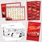 Подарочный творческий набор: наклейки, блокнот, раскраски, обучающие карточки, Тачки