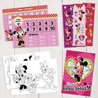 Подарочный творческий набор: наклейки, блокнот, раскраски, обучающие карточки, Минни Маус