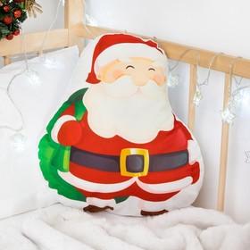Подушка декоративная 'Крошка Я' Санта 40х35 см, велюр п/э 100% Ош