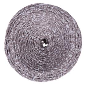 Knitted yarn wide 100m / 350g, thread width 7-9 mm (flowers latte print) MIX