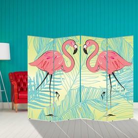 """Ширма """"Розовый фламинго"""", 200 × 160 см"""