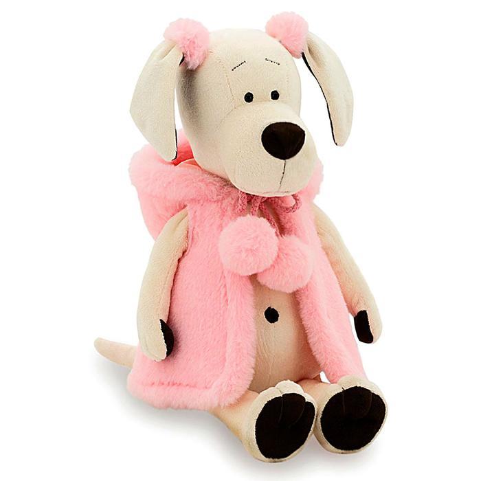 Мягкая игрушка «Собачка Лапуська: Меховой стиль», 25 см - фото 726736035