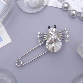 """Pin """"Spider"""", 5cm, color white silver"""