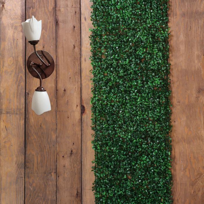 Декоративная панель, 40 × 60 см, «Самшит», тёмно-зелёный