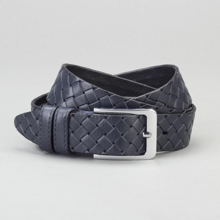 Ремень мужской, пряжка металл, ширина - 3,5 см, цвет синий