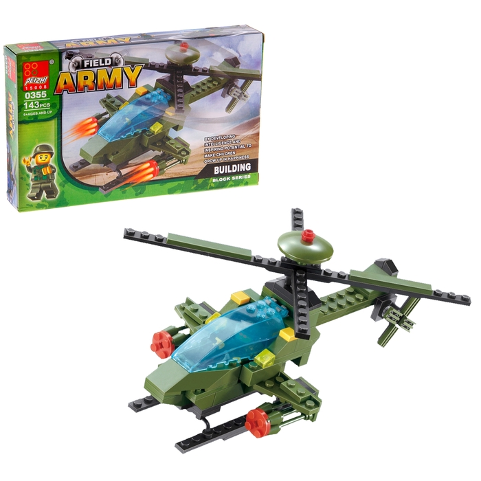 Конструктор «Военный вертолёт», 143 детали