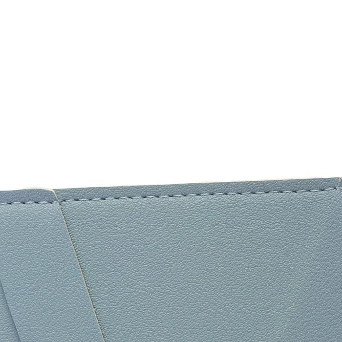 Пaпка деловая искусственная кожа, плоская, 330х240 мм, «Наппа Голубой и серебряный», крестообразная застёжка - фото 408708268